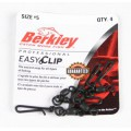 Mc Mahon Easy clip snaps/swivels size 007 60lb 4шт Black застежка Berkley